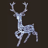 Premier 1.4m Acrylic Standing Reindeer with 300 White Leds (LV161008)