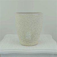 Dappled Cream Spirit Orchid Pot - Cream 15cm