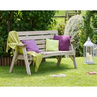 Zest 4 Leisure Abbey 3 Seater Bench (DIRECT DISPATCH)