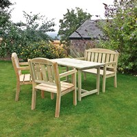 Zest 4 Leisure Caroline Table, Bench and 2 Chair Set (DIRECT DISPATCH)