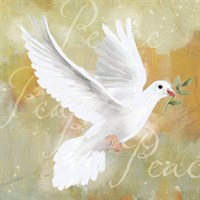 Ling 6 Pack Charity Christmas Cards - Glitter White Dove - 13.5cm (X12112RCJP)