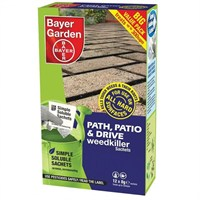 Bayer Garden Path, Patio & Drive Weedkiller Sachets - 12 x 8g Packs (300sqm)