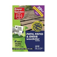 Bayer Garden Path, Patio & Drive Weedkiller Sachets - 8 x 8g Packs (200sqm)