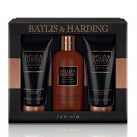 Baylis & Harding Christmas Black Peper & Ginseng Men's Grooming Gift Set (BM17BP3PC)