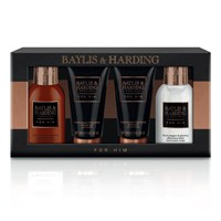 Baylis & Harding Christmas Black Pepper & Ginseng Men's Grooming Travel Essential Gift Set (BM17BP4PBOX)