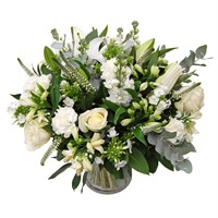 Classic White Mother's Day Flowers Hand Tied Bouquet