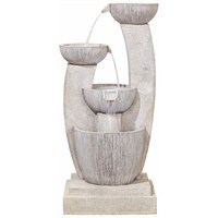 DIRECT DISPATCH Easy Fountain Greek Columns Water Feature with LEDs (45129L)