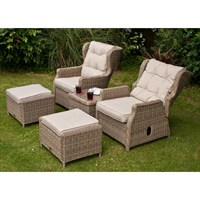 Firmans Corfu Reclining Armchair Set With Ottomans & Side Table (499224)