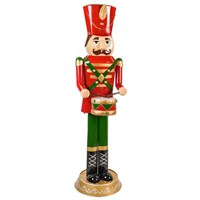 Fountasia Christmas Giant Metal Nutcracker Statue With Lights  (77317)