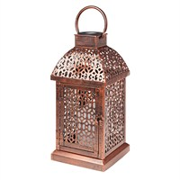 Gardman Antique Brass Candle Lantern (L23027)