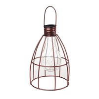 Gardman Caged Lightbulb Lantern Dark Copper - Large (L23005)