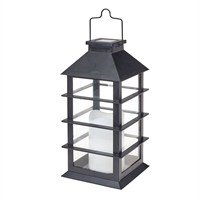 Gardman Contemporary Candle Lantern Black - Large (L23025)