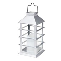 Gardman Contemporary Candle Lantern - White (L23024)