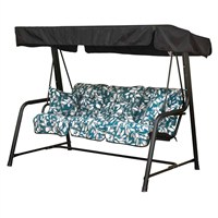 Glendale 3 Seater Black Hammock Country Teal (GL1251)
