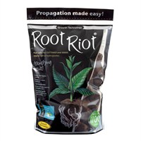 Growth Technology Root Riot Propagation Plant Cubes - Bag of 100 (PRRR100)