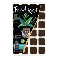Growth Technology Root Riot Propagation Plant Cubes - Tray Of 24 (PRRR24)