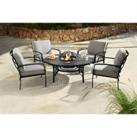 Hartman Jamie Oliver Fire Pit Set With 4 Chill Out Chairs (499128)