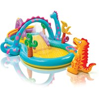 Intex 11ft x 7.5ft Dinoland Paddling Pool Play Center (57135NP)
