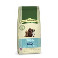 James Wellbeloved Duck & Rice Kibble Dog Food - Puppy 2Kg (6200020)