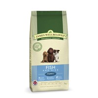 James Wellbeloved Fish & Rice Kibble Dog Food - Puppy 2Kg (6300020)