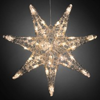 Konstsmide 45cm Christmas Acrylic Star with 32 Warm White LEDs (6110-103EE)