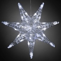 Konstsmide 45cm Christmas Acrylic Star with 32 White LEDs (6110-003EE)