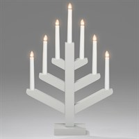 Konstsmide Candlestick in Grey with 7 LED Candle Bulbs (3589-310EE)