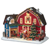 Lemax Christmas Village - Christmas At The Farm Building with 4.5V Adapter (75192)