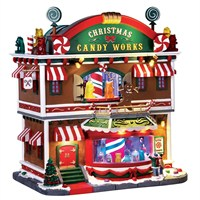 Lemax Christmas Village - Christmas Candy Works Building with 4.5V Adapter (65164)