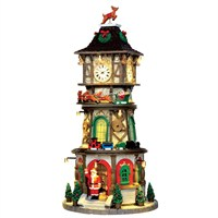 Lemax Christmas Village - Christmas Clock Tower Building with 4.5v Adapter (45735)