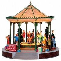 Lemax Christmas Village - Christmas Sock-Hop Band Stand Figurine with 4.5V Adapter (24482)