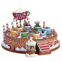Lemax Christmas Village - Cocoa Cups Carnival Ride with 4.5V Adapter (74222)