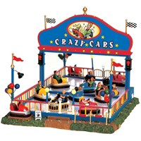 Lemax Christmas Village - Crazy Cars Carnival Ride with 4.5v Adapter (64488)