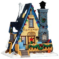 Lemax Christmas Village - Edelweiss Cabin Building - Battery Operated LED (35573)