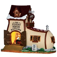 Lemax Christmas Village - Eli's Cobbler Shoppe Building - Battery Operated LED (65123)