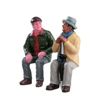 Lemax Christmas Village - Chatting With Old Friends - Set Of 2 Figurine (72507)