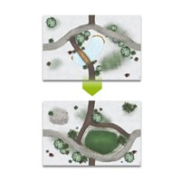 My Village - Christmas Village Decoration Double-Sided Meadow/Lake Plate Base (MYG02)