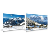 My Village - Christmas Village Decoration Double-Sided Wintersport/Mountain Village Background (MYP12)