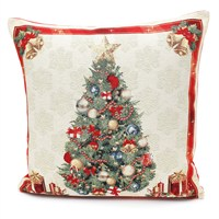 Peggy Wilkins Deck The Halls Complete Christmas Cushion - 45 x 45cm