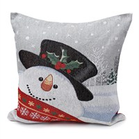 Peggy Wilkins Frosty The Snowman Complete Christmas Cushion - 45 x 45cm