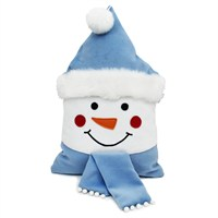 Peggy Wilkins Happy Snowman Complete Christmas Cushion - 30 x 48cm