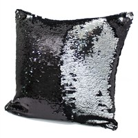 Peggy Wilkins Ritz Black & Silver Complete Christmas Cushion - 40 x 40cm