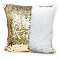 Peggy Wilkins Ritz Gold & Cream Complete Christmas Cushion - 40 x 40cm