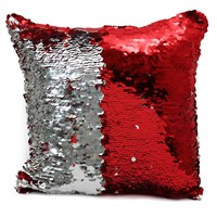 Peggy Wilkins Ritz Red & Silver Complete Christmas Cushion - 40 x 40cm