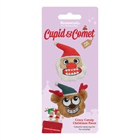 Rosewood Cat Toy - Crazy Catnip Christmas Faces 2 Pack (90851)
