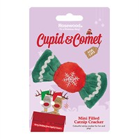 Rosewood Cat Toy - Mini Filled Christmas Catnip Cracker (90849)