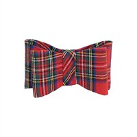Rosewood Dog Clothing - Festive Red Christmas Tartan Bow Small (90771)