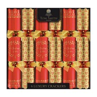 Tom Smith 6 x 14in Red & Gold Luxury Christmas Crackers (XAGTS2702)