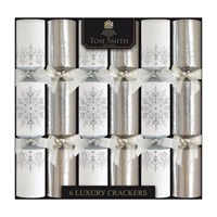 Tom Smith 6 x 14in Silver & White Luxury Christmas Crackers (XAGTS2704)
