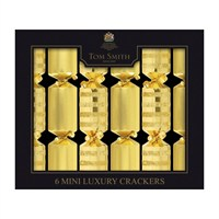 Tom Smith 6 x 8in Gold Mini Luxury Christmas Crackers (XAGTS2301)